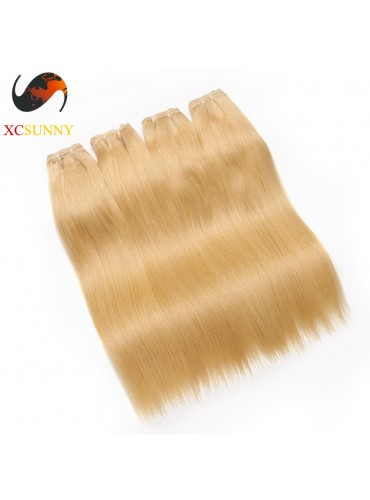 Wholesale Mix Length 4pcs-12-26 Inch #613 7A Deluxe Straight 100% Brazilian Virgin Hair Weave Remy Human Hair Weft 100g/pcs [BHV604]