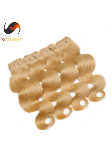 Wholesale Mix Length 4pcs-12-26 Inch #613 7A Deluxe Body Wave 100% Brazilian Virgin Hair Weave Remy Human Hair Weft 100g/pcs [BHV608]