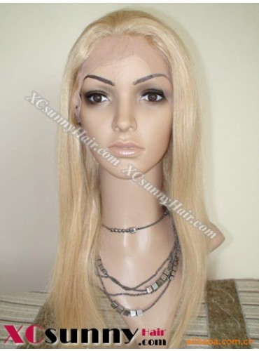 16 Inch Silky Straight  #613 Full Lace Wigs 100% Indian Remy Human Hair [FLH228]