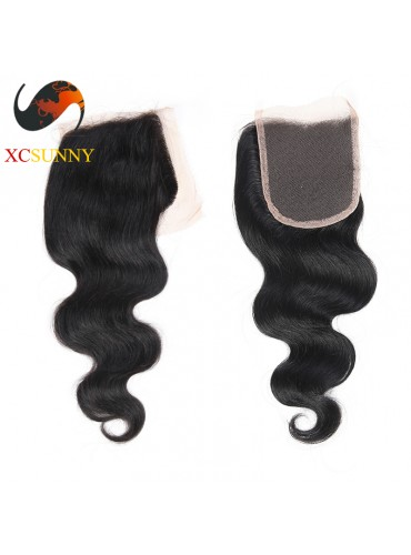 Brazilian 5A Body Wave Lace Closure Silk Base 8-20 inch  100%  Virgin Remy Human Hair Wholesale 100g/pcs [BHV069]