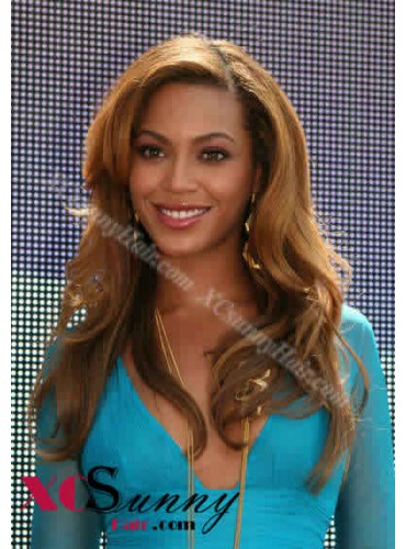 18 Inch #27 Full Lace Wigs Beyonce Long Hairstyle 100% Indian Remy Human Hair Custom [CFL005]