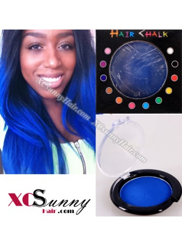 Wholesale-100% Temporary Dark Blue Hair Color Pastel Chalk 10 boxes/lot  [HCK008]