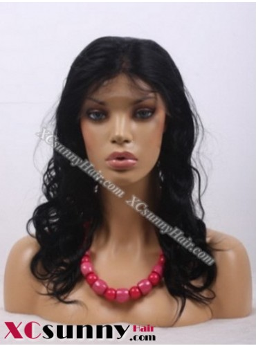 14 inch Curly #1B Full Lace Wigs 100% Indian Remy Human Hair [FLH085]