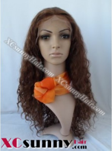 20 Curly #4 Full Lace Wigs 100% Indian Remy Human Hair [FLH101]
