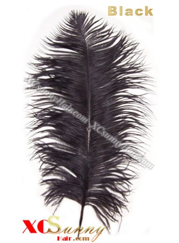 Wholesale - 6 ~ 14 Inch Black African Ostrich Feather Plume Centerpieces 50 Pcs/Lot [OFP001]