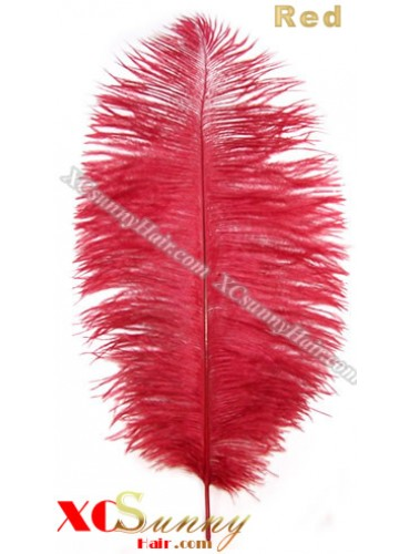 Wholesale - 6 ~ 14 Inch Red African Ostrich Feather Plume Centerpieces 50 Pcs/Lot [OFP012]