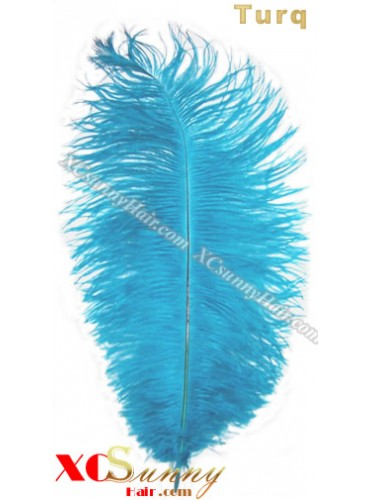Wholesale - 6 ~ 14 Inch Turq African Ostrich Feather Plume Centerpieces 50 Pcs/Lot [OFP014]