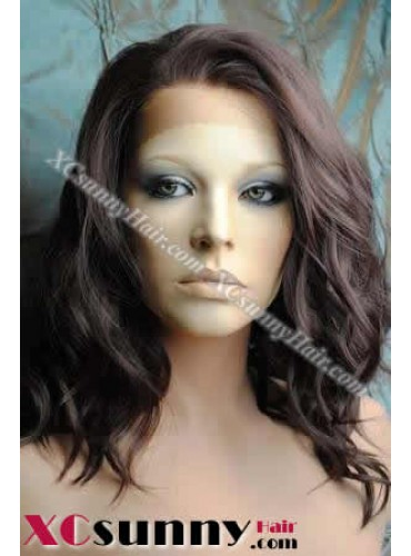 14 inch Body Wave #4 Lace Front Wigs 100% Indian Remy Human Hair [LFH130]