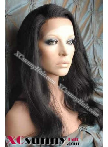18 inch Body Wave #1B Lace Front Wigs 100% Indian Remy Human Hair [LFH137]