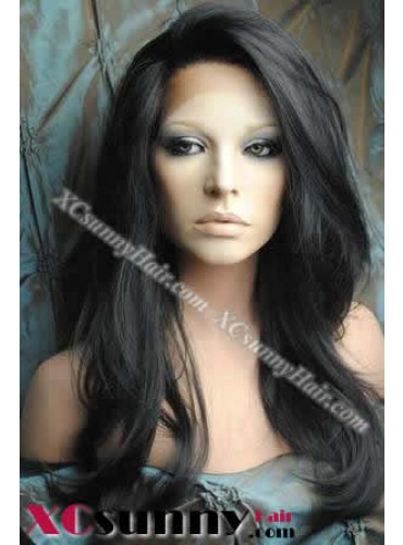 18 Inch Body Wave #1B Glueless Lace Front Wigs 100% Indian Remy Human Hair [GLH083]
