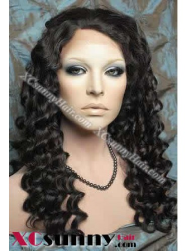 20 Inch Deep Wave #1B Full Lace Wigs 100% Indian Remy Human Hair [FLH176]