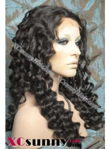 20 Inch Deep Wave  #2 Glueless  Full Lace Wigs 100% Indian Remy Human Hair [GFH033]