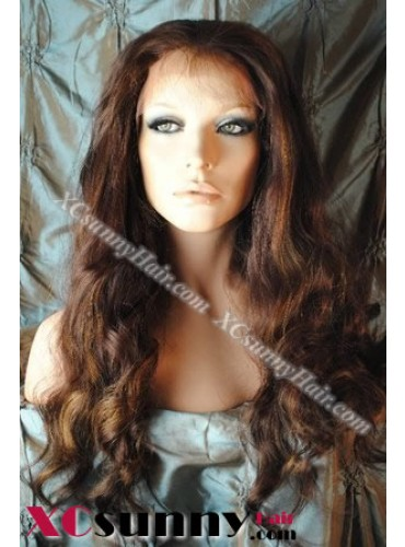 20 Inch Body Wave  #4/27 Glueless Lace Front Wigs 100% Indian Remy Human Hair [GLH106]