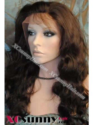 18 inch Body Wave #4 Lace Front Wigs 100% Indian Remy Human Hair [LFH134]