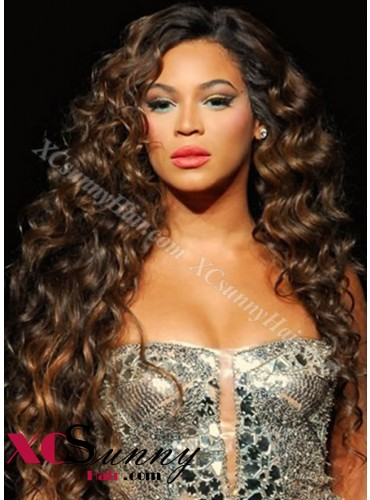 20 Inch #4/27 Full Lace WIgs Beyonce Long Hairstyle 100% Indian Remy Human Hair Custom [CFL004]