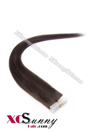 16 Inch - 26 Inch Silky Straight  #3 100% Indian Remy Human Hair Skin Weft Tape In Hair Extensions 20pcs 50g [SWT5004]