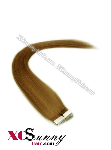 16 Inch - 26 Inch Silky Straight  #8 100% Indian Remy Human Hair Skin Weft Tape In Hair Extensions 20pcs 50g [SWT5007]