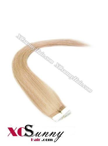 16 Inch - 26 Inch Silky Straight  #16 100% Indian Remy Human Hair Skin Weft Tape In Hair Extensions 20pcs 50g [SWT5011]