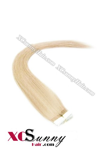 16 Inch - 26 Inch Silky Straight  #24 100% Indian Remy Human Hair Skin Weft Tape In Hair Extensions 20pcs 50g [SWT5014]