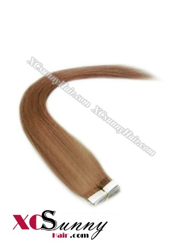 16 Inch - 26 Inch Silky Straight  #30 100% Indian Remy Human Hair Skin Weft Tape In Hair Extensions 20pcs 50g [SWT5016]