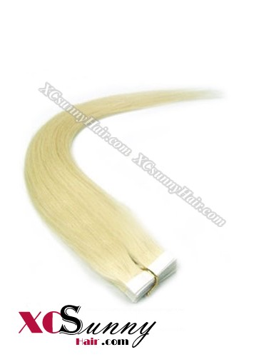 16 Inch - 26 Inch Silky Straight  #Green 100% Indian Remy Human Hair Skin Weft Tape In Hair Extensions 20pcs 50g [SWT5023]