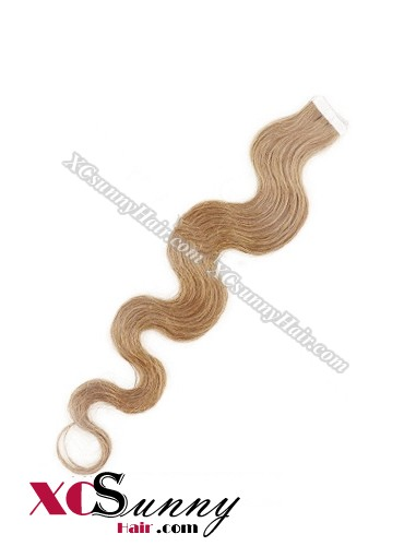16 Inch - 26 Inch Body Wave #12 100% Indian Remy Human Hair Skin Weft Tape In Hair Extensions 20pcs 50g [SWTW5009]
