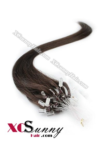 14 Inch - 26 Inch Silk Straight #3 Micro Loop Ring Human Hair Extensions 0.5g*100s  [MLRS51004]