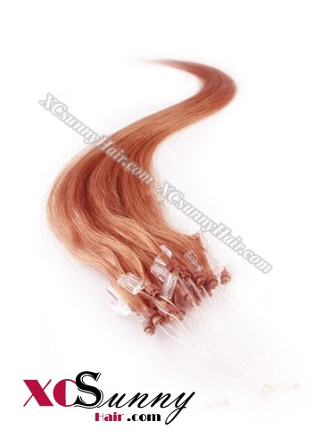 14 Inch - 26 Inch Silk Straight #130 Micro Loop Ring Human Hair Extensions 0.5g*100s  [MLRS51020]