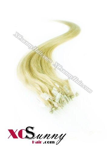 14 Inch - 26 Inch Silk Straight #Green Micro Loop Ring Human Hair Extensions 0.5g*100s  [MLRS51023]