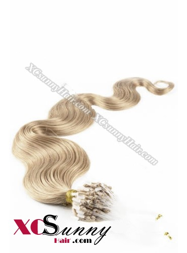 14 Inch - 26 Inch Body Wave #18 Micro Loop Ring Human Hair Extensions 0.5g*100s  [MLRB51012]