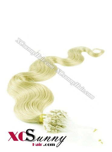 14 Inch - 26 Inch Body Wave #Green Micro Loop Ring Human Hair Extensions 0.5g*100s  [MLRB51023]