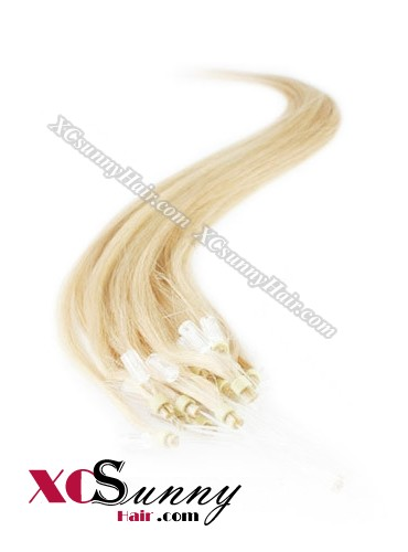 14 Inch - 26 Inch Silk Straight #24 Micro Loop Ring Human Hair Extensions 0.5g*50s  [MLRS55014]