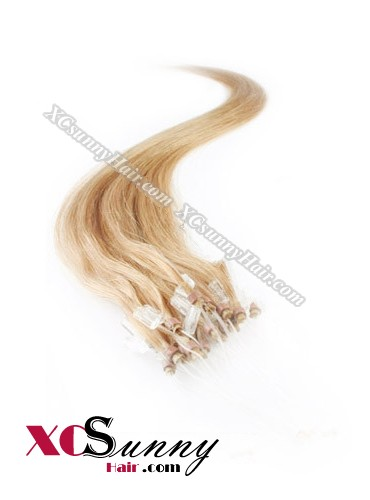 14 Inch - 26 Inch Silk Straight #27 Micro Loop Ring Human Hair Extensions 0.5g*50s  [MLRS55015]