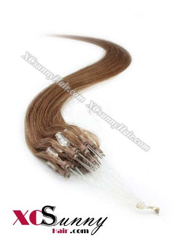 14 Inch - 26 Inch Silk Straight #30 Micro Loop Ring Human Hair Extensions 0.5g*50s  [MLRS55016]