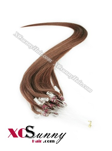 14 Inch - 26 Inch Silk Straight #33 Micro Loop Ring Human Hair Extensions 0.5g*50s  [MLRS55017]