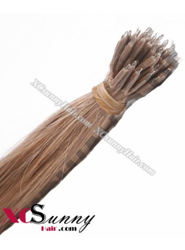 Wholesale-18 Inch - 22 Inch  #16 Ash Blonde Straight Nano Ring Hair Extensions 100% Indian Remy Human Hair Extension 100g/pack, 1g/s [NRE007]