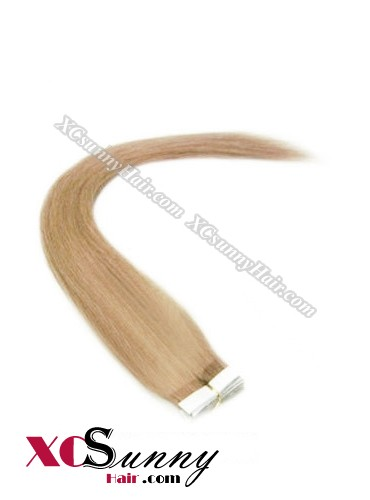 16 Inch - 26 Inch Silky Straight  #27 100% Indian Remy Human Hair Skin Weft Tape In Hair Extensions 40pcs 100g [SWT015]