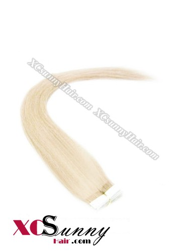 16 Inch - 26 Inch Silky Straight  #60 100% Indian Remy Human Hair Skin Weft Tape In Hair Extensions 40pcs 100g [SWT018]