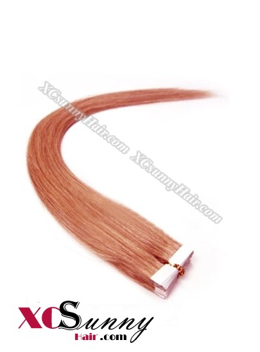 16 Inch - 26 Inch Silky Straight  #130 100% Indian Remy Human Hair Skin Weft Tape In Hair Extensions 40pcs 100g [SWT020]