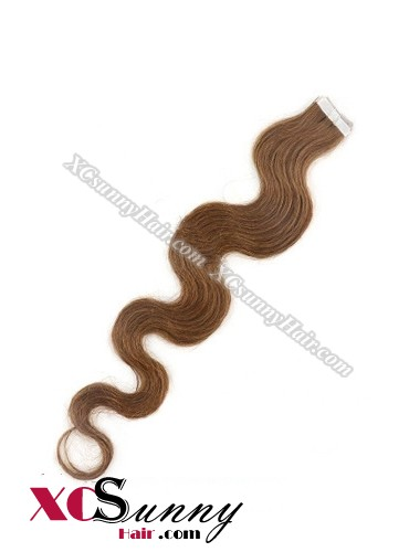 16 Inch - 26 Inch Body Wave  #30 100% Indian Remy Human Hair Skin Weft Tape In Hair Extensions 40pcs 100g [SWTW016]