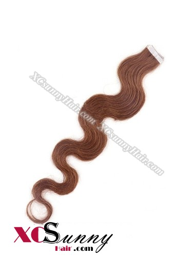 16 Inch - 26 Inch Body Wave  #33 100% Indian Remy Human Hair Skin Weft Tape In Hair Extensions 40pcs 100g [SWTW017]