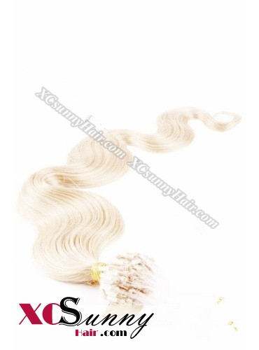 14 Inch - 26 Inch Body Wave #613 Micro Loop Ring Human Hair Extensions 0.5g*50s  [MLRB55021]