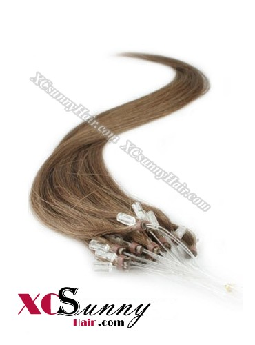 14 Inch - 26 Inch Silk Straight #6  Micro Loop Ring Human Hair Extensions 0.8g*50s  [MLRS85006]