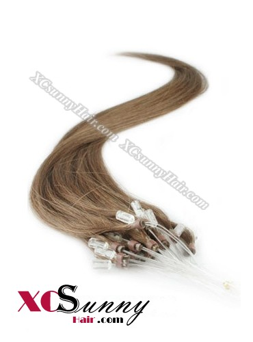 14 Inch - 26 Inch Silk Straight #8 Micro Loop Ring Human Hair Extensions 0.8g*50s  [MLRS85007]