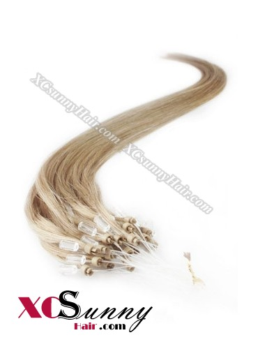 14 Inch - 26 Inch Silk Straight #18 Micro Loop Ring Human Hair Extensions 0.8g*50s  [MLRS85012]