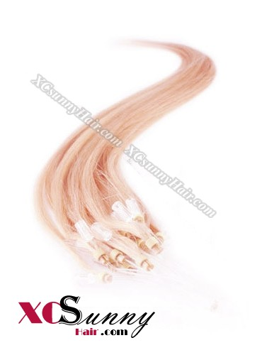 14 Inch - 26 Inch Silk Straight #Pink Micro Loop Ring Human Hair Extensions 0.8g*50s  [MLRS85024]