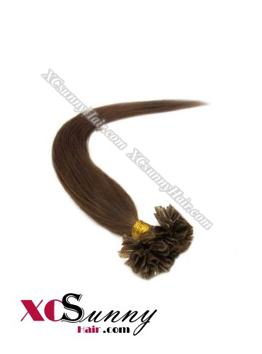 16 Inch - 26 Inch Silk Straight #4 Nail Tip Human Hair Extensions 0.5g*50s [NUTS55005]