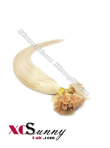 16 Inch - 26 Inch Silk Straight #24 Nail Tip Human Hair Extensions 0.5g*50s [NUTS55014]