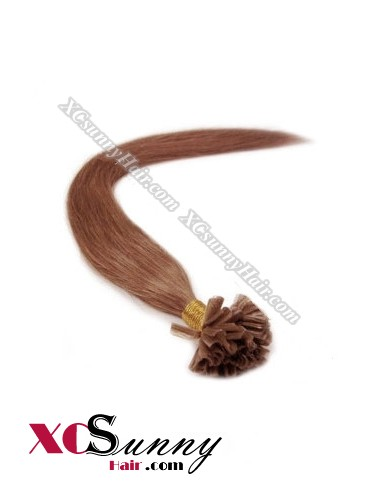 16 Inch - 26 Inch Silk Straight #33 Nail Tip Human Hair Extensions 0.5g*50s [NUTS55017]