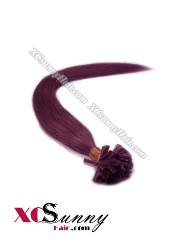 16 Inch - 26 Inch Silk Straight #99 Nail Tip Human Hair Extensions 0.5g*50s [NUTS55019]